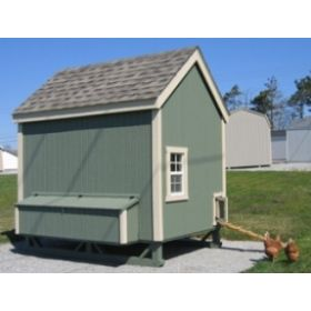Colonial Gable Chicken Coop-6X8