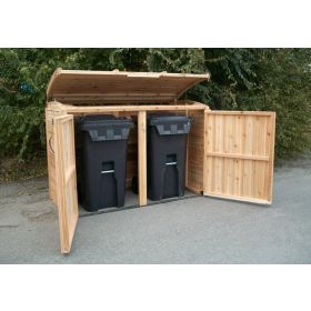 Outdoor Living Cedar Oscar Waste Management Shed 6'x3'