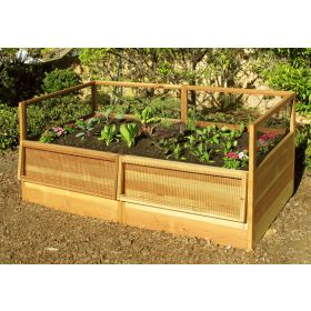 Outdoor Living Raised Cedar Garden Bed 6'x3'
