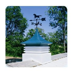 Cupola with horse weather vane for Wood Sheds